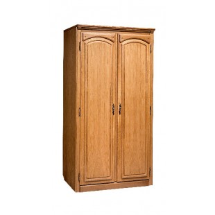 Двухстворчатый шкаф для одежды Элбург из дуба
