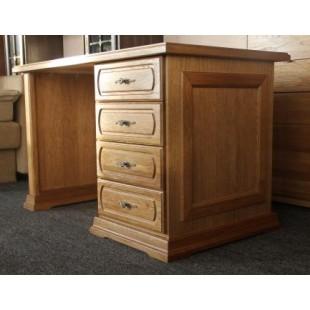 Однотумбовый стол из дуба