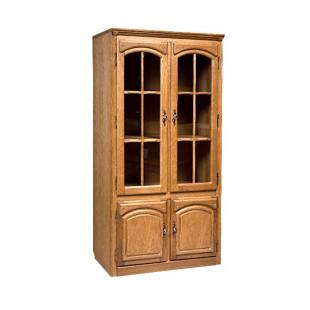 Шкаф с витриной из дуба