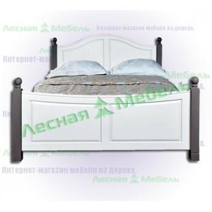 Кровать двуспальная из сосны Ивала 180