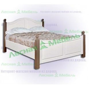 Кровать из сосны двуспальная Ивала