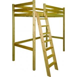 Кровать-чердак для детей и взрослых из массива