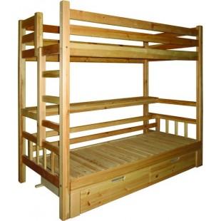 Кровать чердак для взорслых и детей из сосны