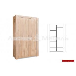 Шкаф двухдверный из дуба Лэйквуд