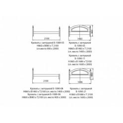Кровать 1 сп. (высокая спика) (90)