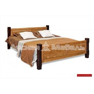 Кровать из дуба из коллекции Марсель.