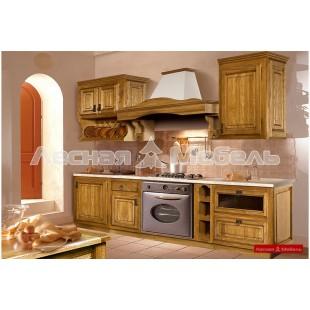 Кухня из массива дуба Марсель