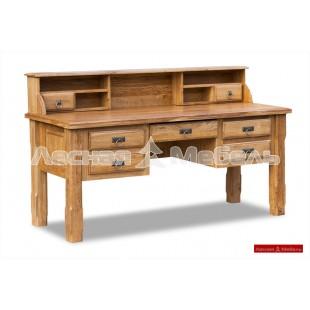 Письменный стол с ящиками из настоящего леса.