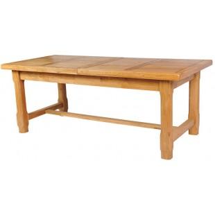 Раздвижной обеденный стол из настоящего дуба.