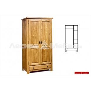 Шкаф комбинированный из настощего дуба Марсель.