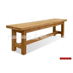 Мебель из дуба для дачи. Скамья Марсель.