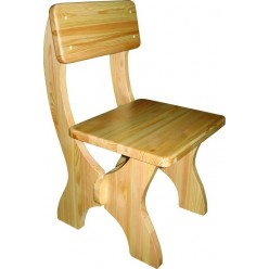Прочный стул из сосны Омега
