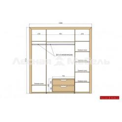Шкаф 4-х дверный Хедмарк