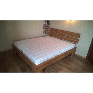 Кровать из массива дуба лофт1800