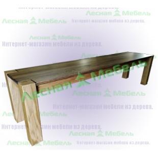 Скамейка на дачу из дуба Аляска Премиум. Купить скамью на дачу в интернет-магазине в Москве.