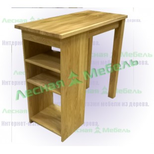 Барный стол из дуба с полками