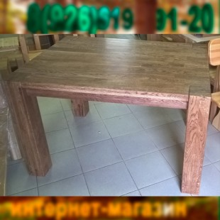 Настоящий дубовый стол в магазине Лесная мебель.