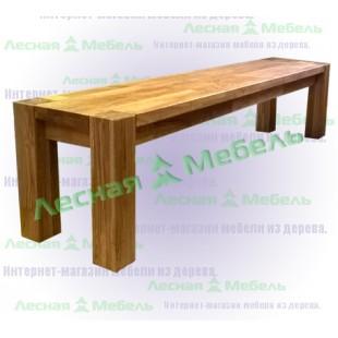 Купить скамейку из дуба в Москве по нужным размерам.