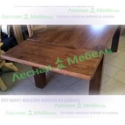 """Стол обеденный (сечение """"проходной"""" ноги 120х120 стлш. 40 мм.(с фальшпанелью))"""