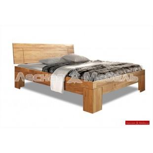 Дубовая кровать Берген - 100% массив дуба.