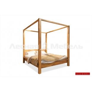 Кровать с балдахином из дуба Берген.
