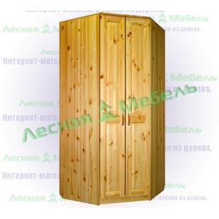 Шкаф в угол из сосны - Герман.