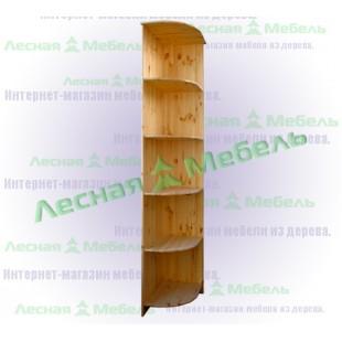 Угловая секция для шкафа из массива сосны.