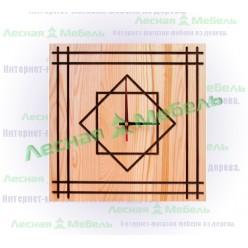 """Часы из дерева """"Геометрия"""""""