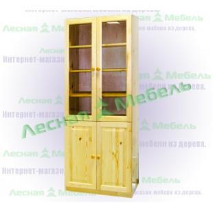 Книжный шкаф из сосны по цене от 14800 рублей.