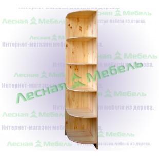 Угловая секция шкафа высотой 1900 мм. из сосны Оскар.