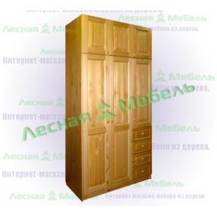 Шкаф с ящиками из сосны Оскар-3я