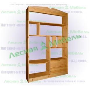 Стеллаж из сосны СТ1250 по цене от 12700 рублей.