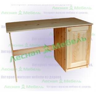 Однотумбовый стол из сосны.