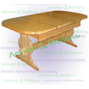 Деревянный раскладной стол из сосны.