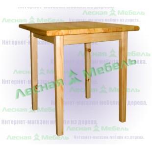 Квадратный стол из массива сосны.