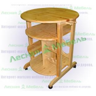 """Сервировочный стол """"Бутлер"""" из сосны."""