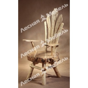 """Кресло из массива тополя """"Художественный промысел"""". Авторская мебель из дерева в Москве"""