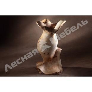 Напольная ваза из тополя. Купить напольную вазу в Москве.