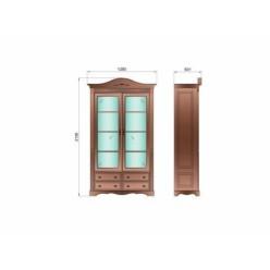 Шкаф книжный Паола БМ-2151