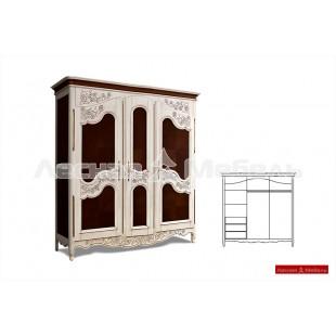 Шкаф для одежды из массива - Шамбор.
