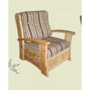 Удобоное кресло кровать из настоящего дерева.