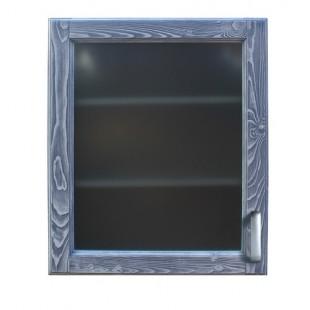 Настенный стеклянный шкаф