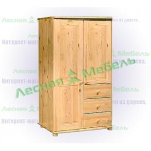 Шкаф для одежды из сосны Иманта 250Кд