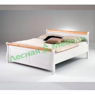 Кровать из массива сосны Мальта