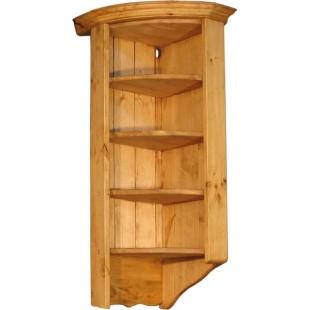 Навесной кухонный шкаф из сосны ПЛ 23-R радиусный