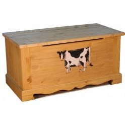 Сундук 100 с росписью COFFRE 100 paint Vache/Cogs/Cochon mouchete/Poule et pjussins