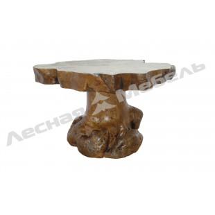 """Дизайнерский обеденный стол """"Гриб"""". Обеденный стол из массива тополя в продаже в Москве."""