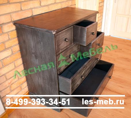 Образец окрашенной мебели из сосны - комод. Магазине Лесная мебель