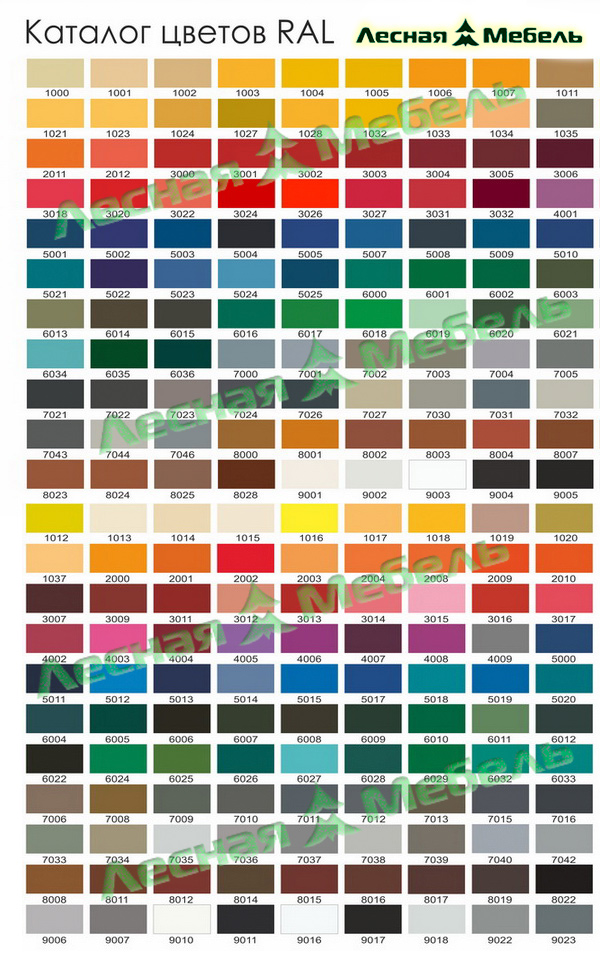 Образцы оттенков цветов для окрашивания мебели и фасадов. Принимаем заказы для окрашивания мебели.